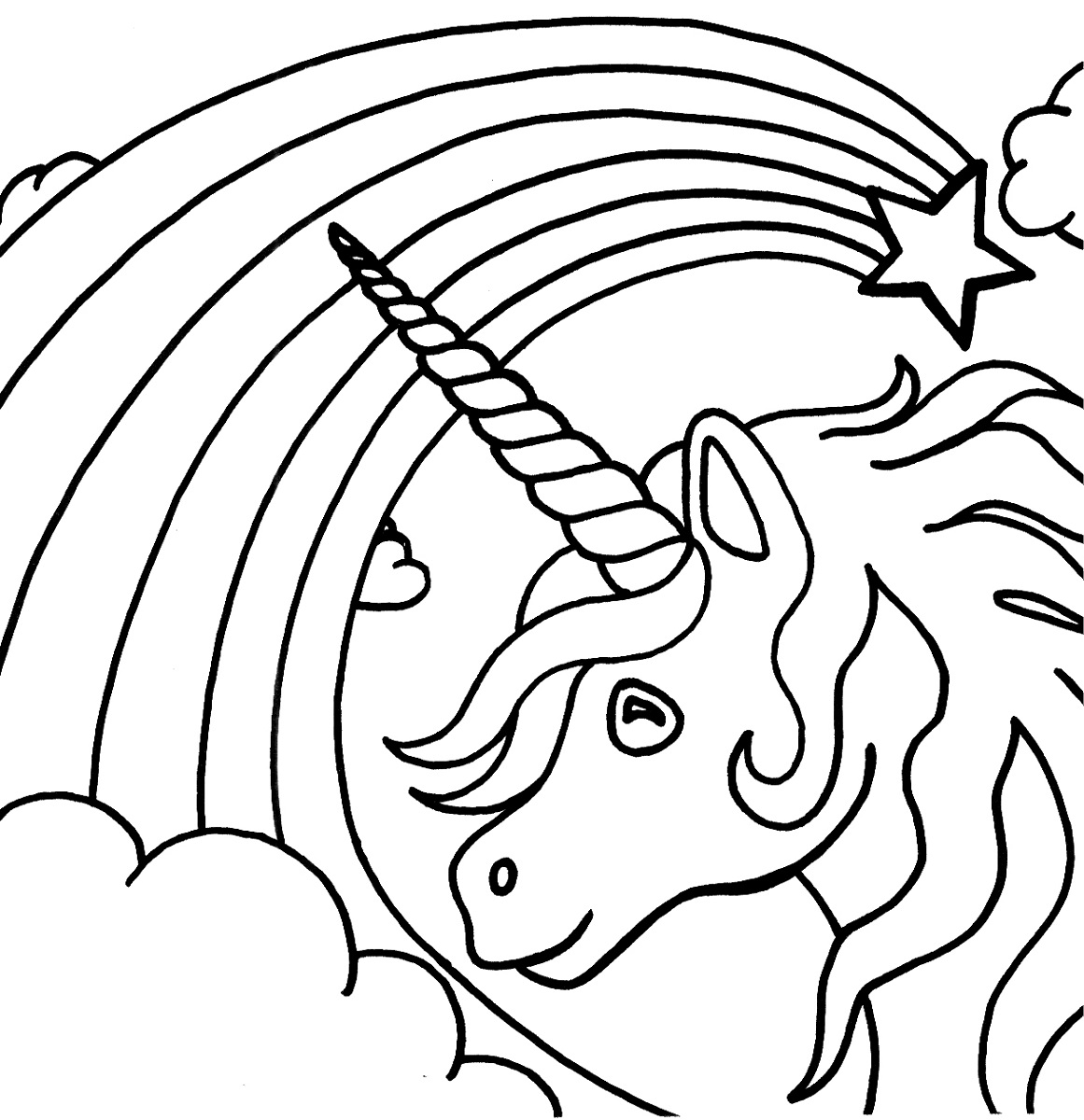 Rainbow Unicorn Drawing At Getdrawings