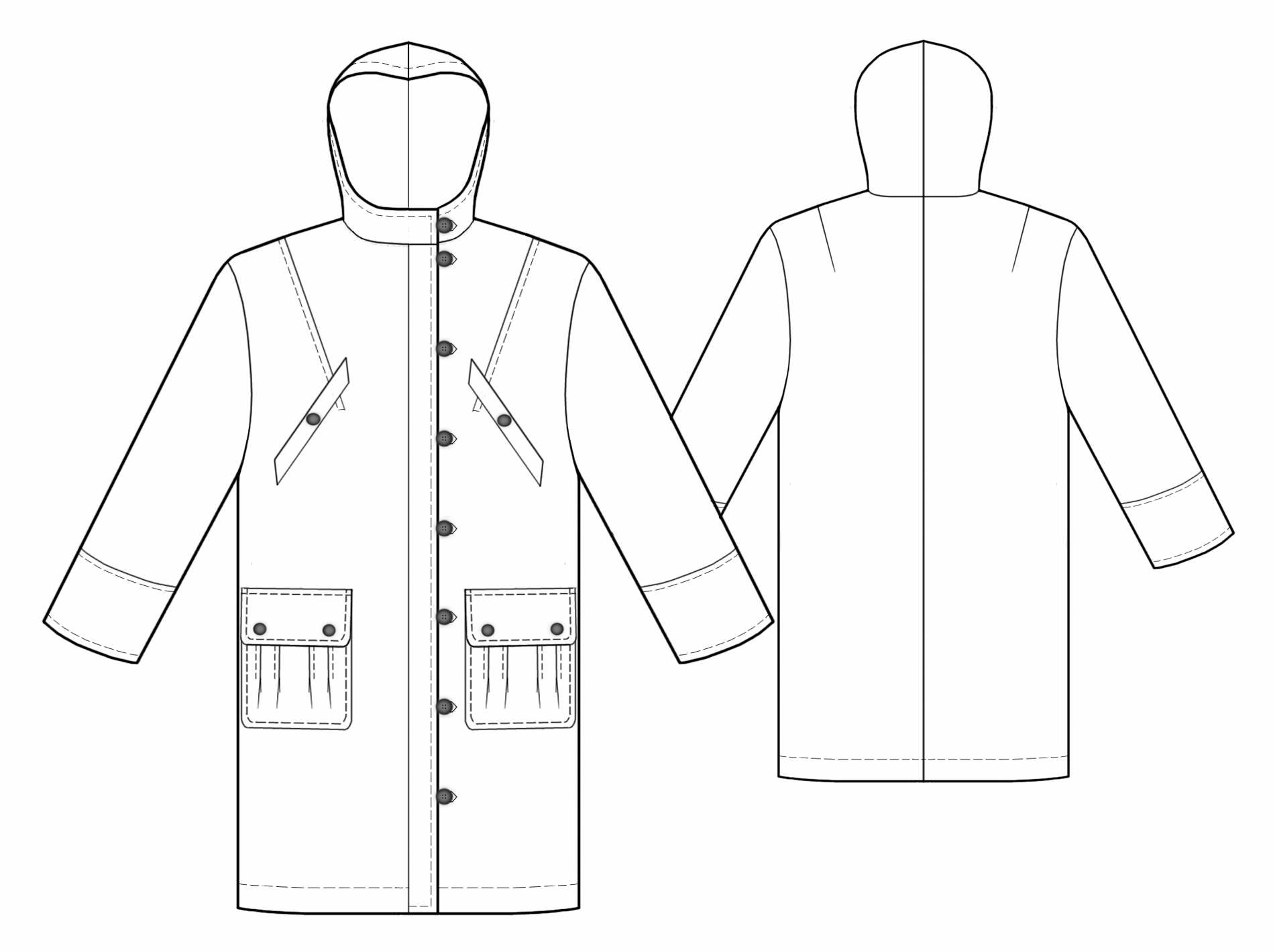 Raincoat Drawing At Getdrawings