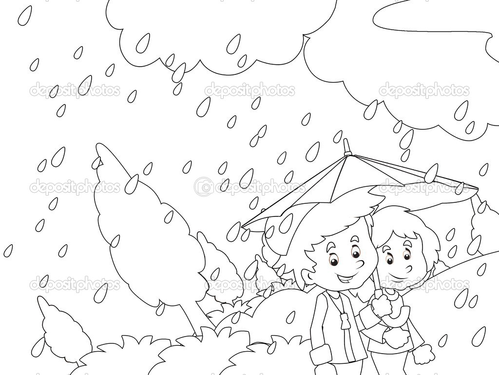 Rainy Day Drawing For Kids At Getdrawings