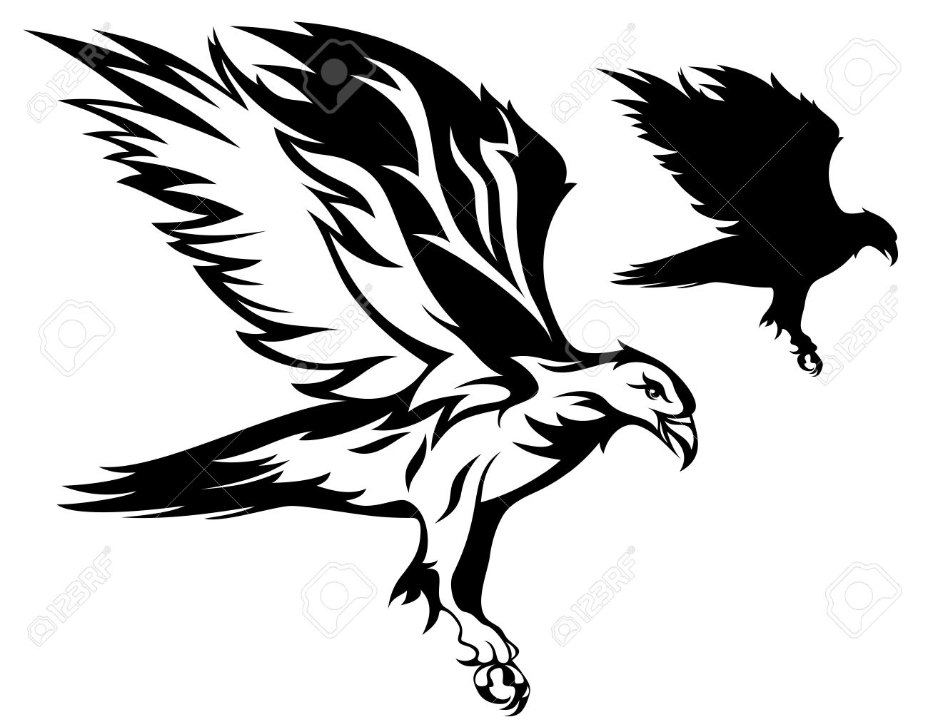 Raven Flying Drawing At Getdrawings