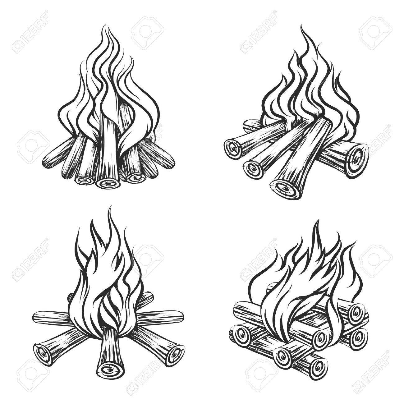 Realistic Flames Drawing At Getdrawings