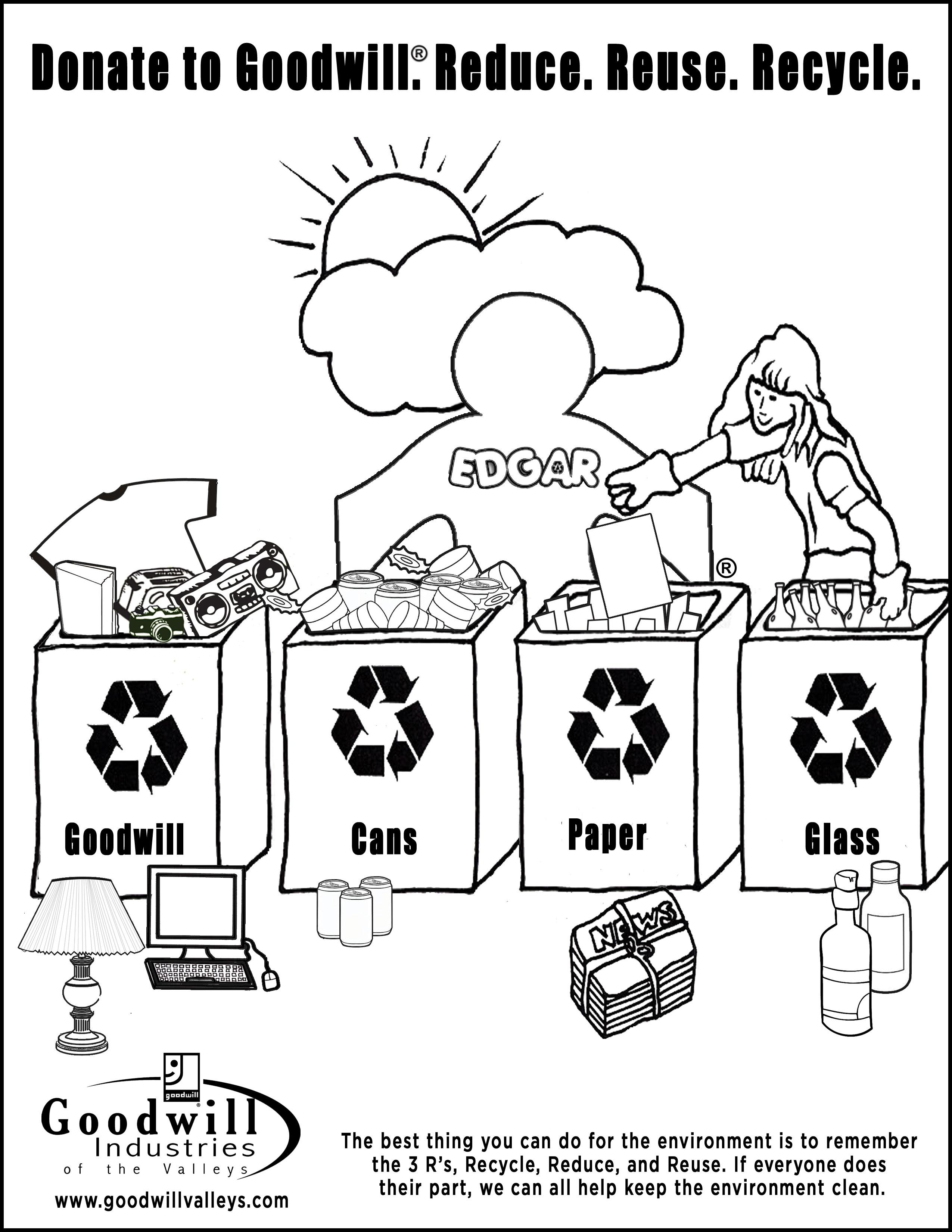 Recycling Bin Drawing At Getdrawings