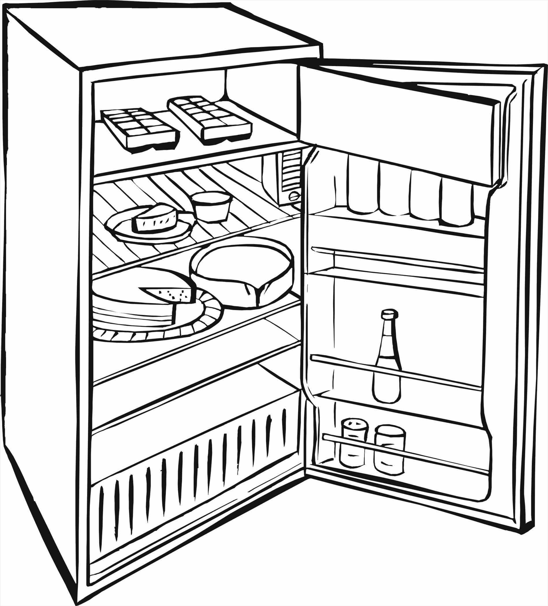 Refrigerator Drawing At Getdrawings