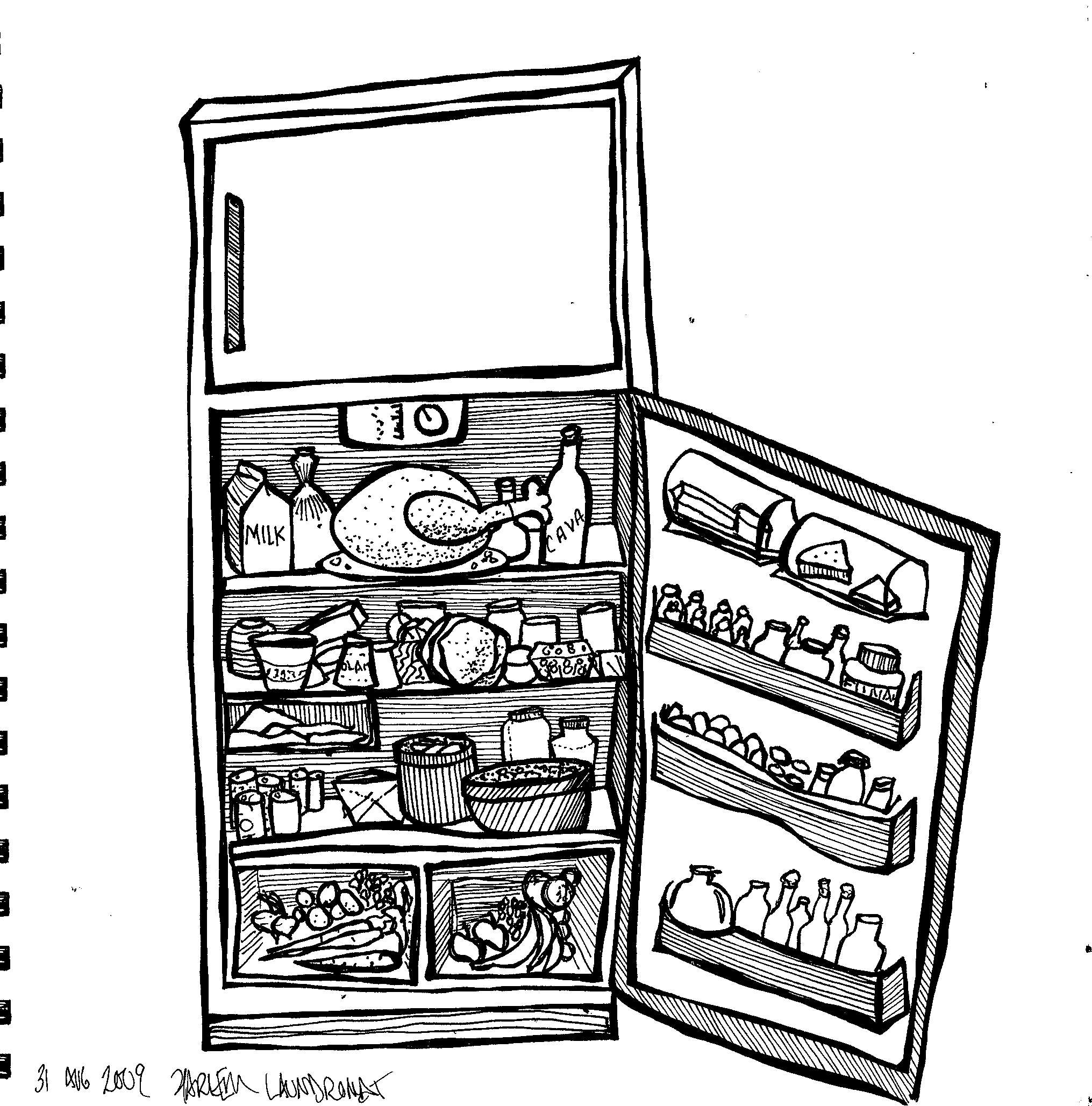 Refrigerator Drawing At Getdrawings