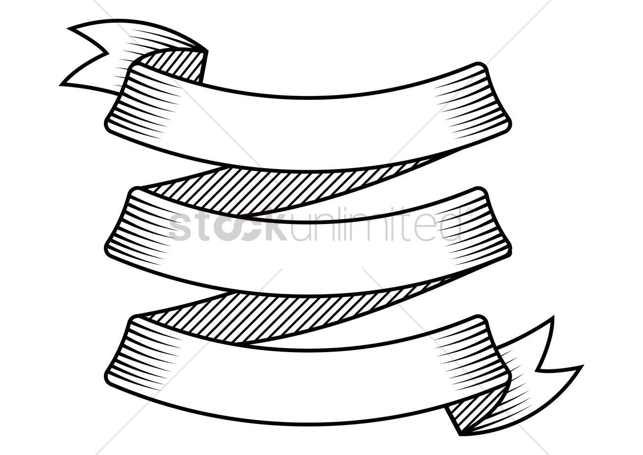 Ribbon Banner Drawing At Getdrawings
