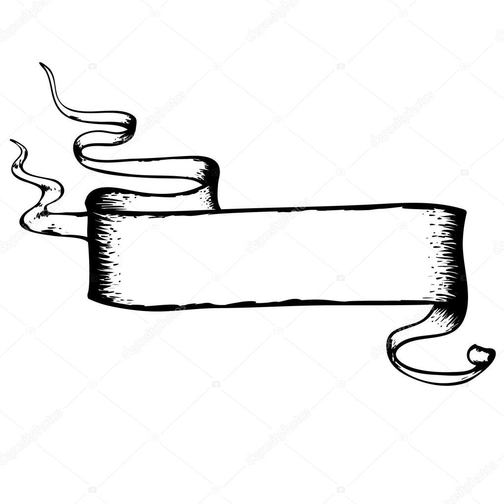 Ribbon Drawing At Getdrawings