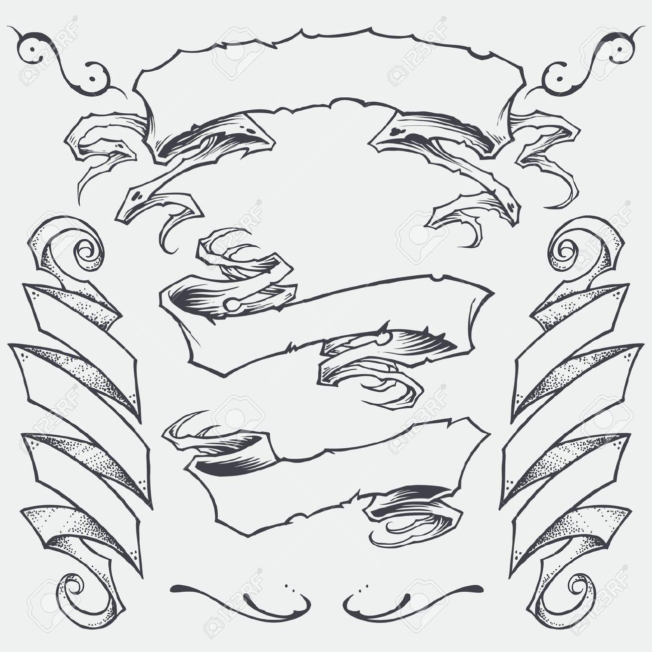 Ribbon Tattoo Drawing At Getdrawings