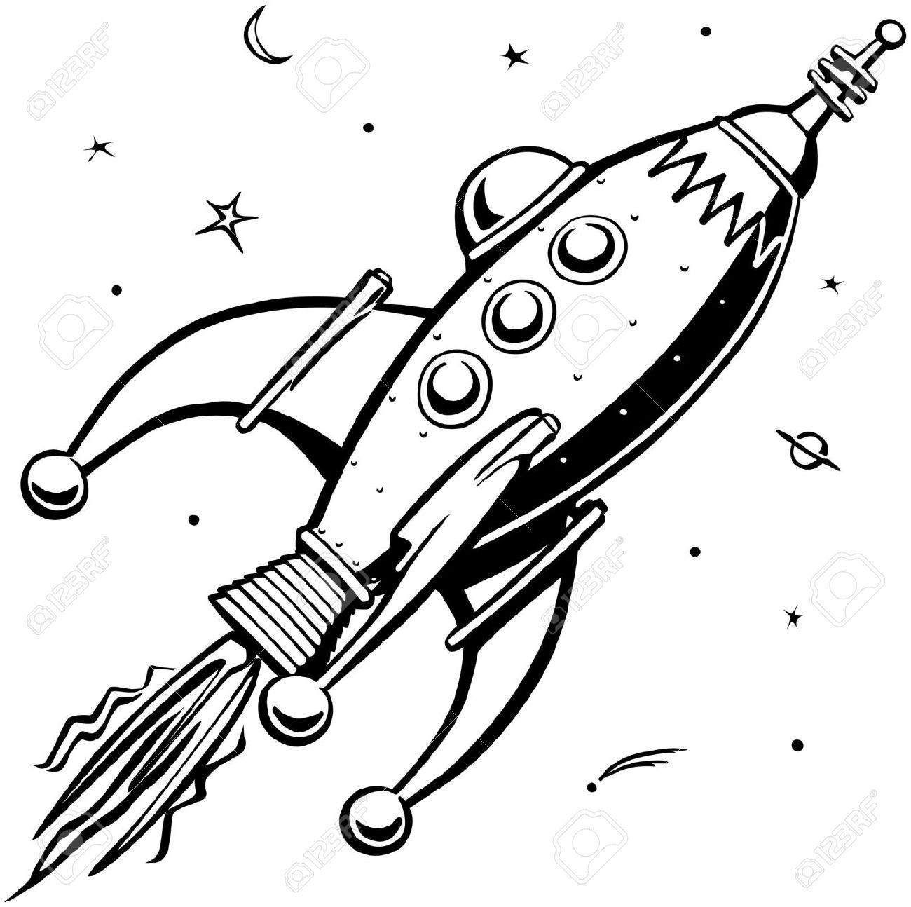 Rocket Drawing At Getdrawings