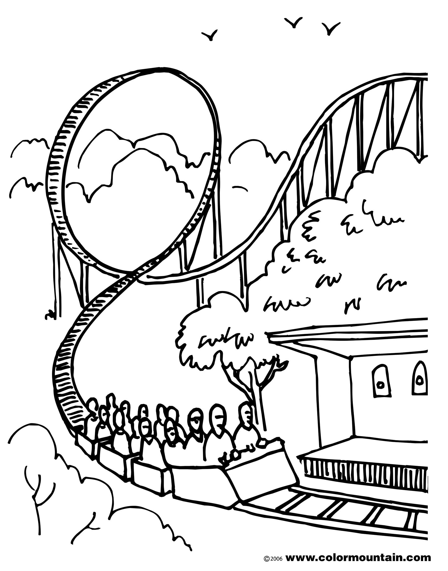Roller Coaster Drawing At Getdrawings