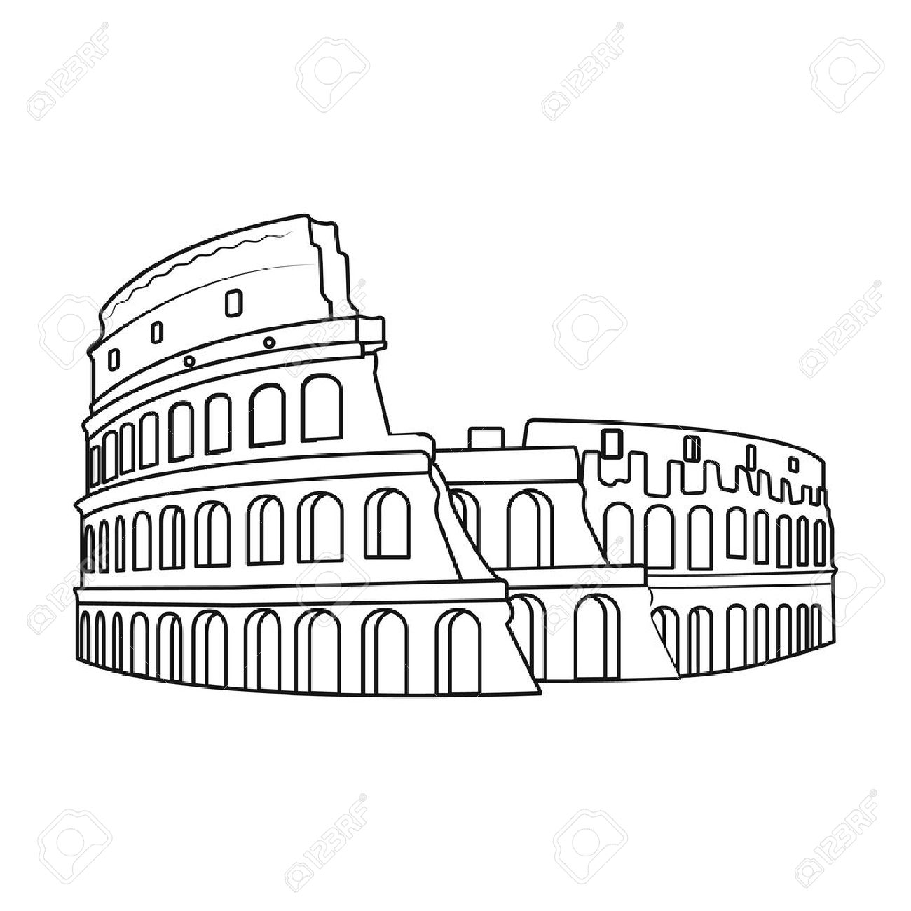 Roman Colosseum Drawing At Getdrawings