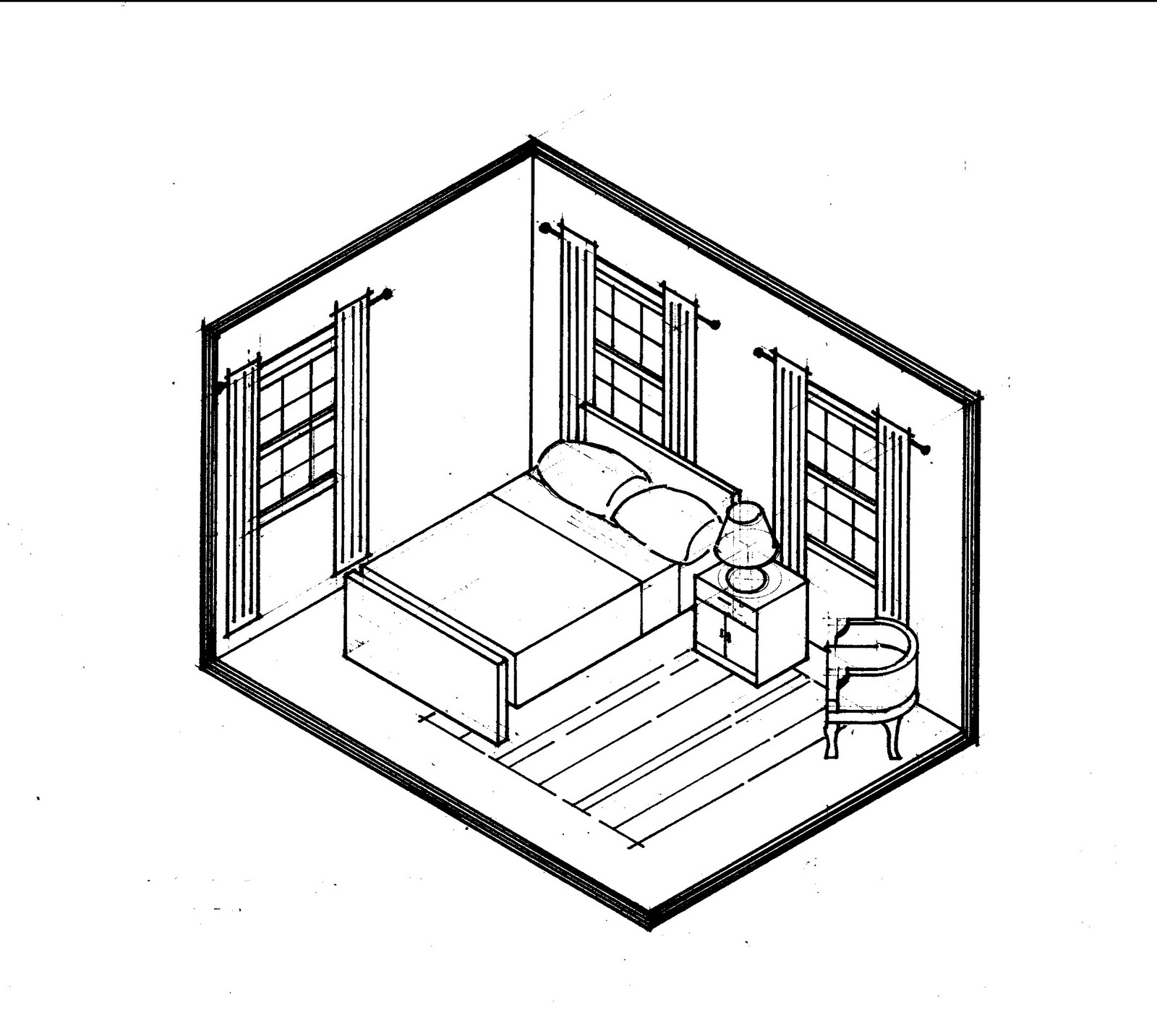 Room Perspective Drawing At Getdrawings