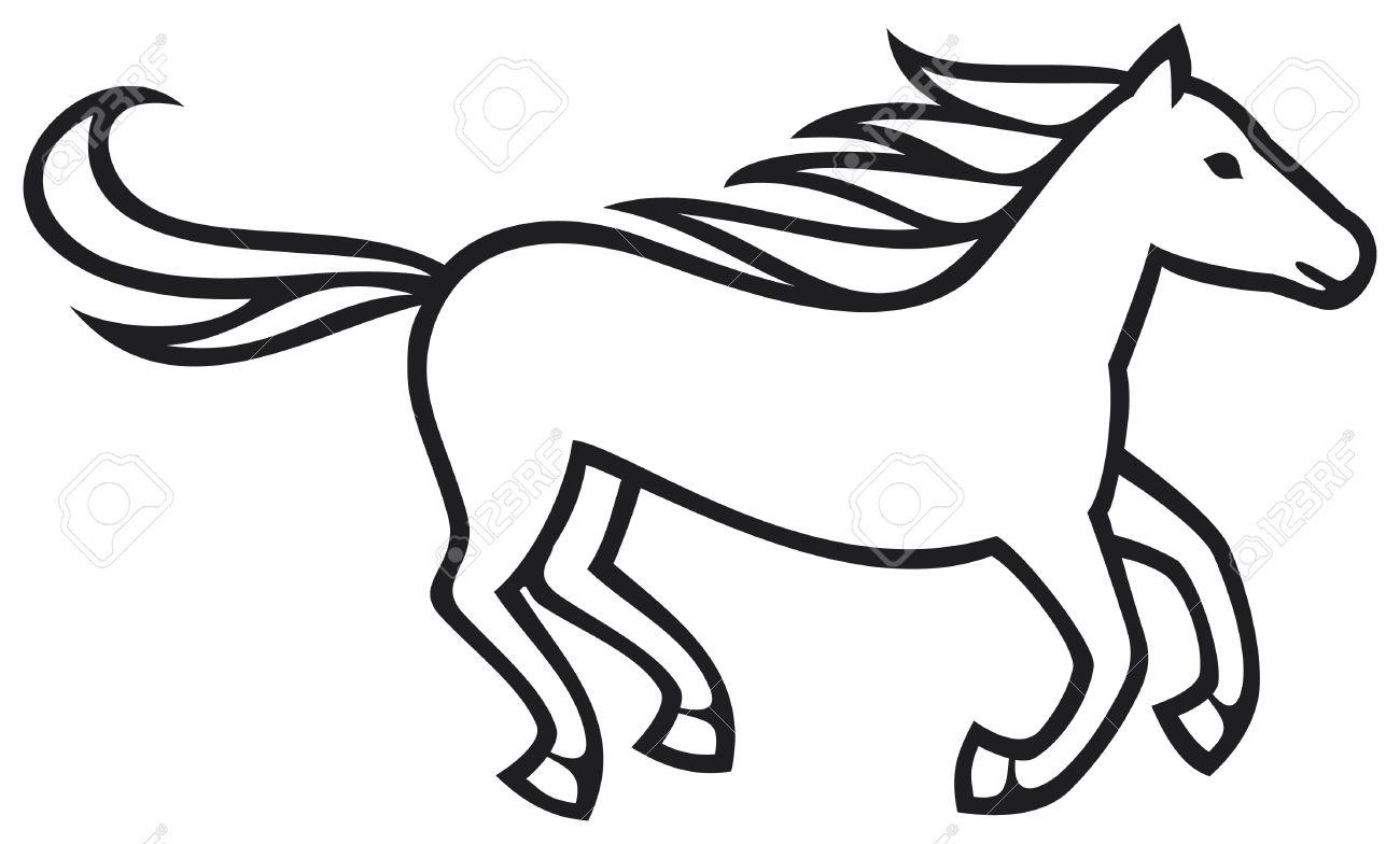 Running Horse Drawing At Getdrawings