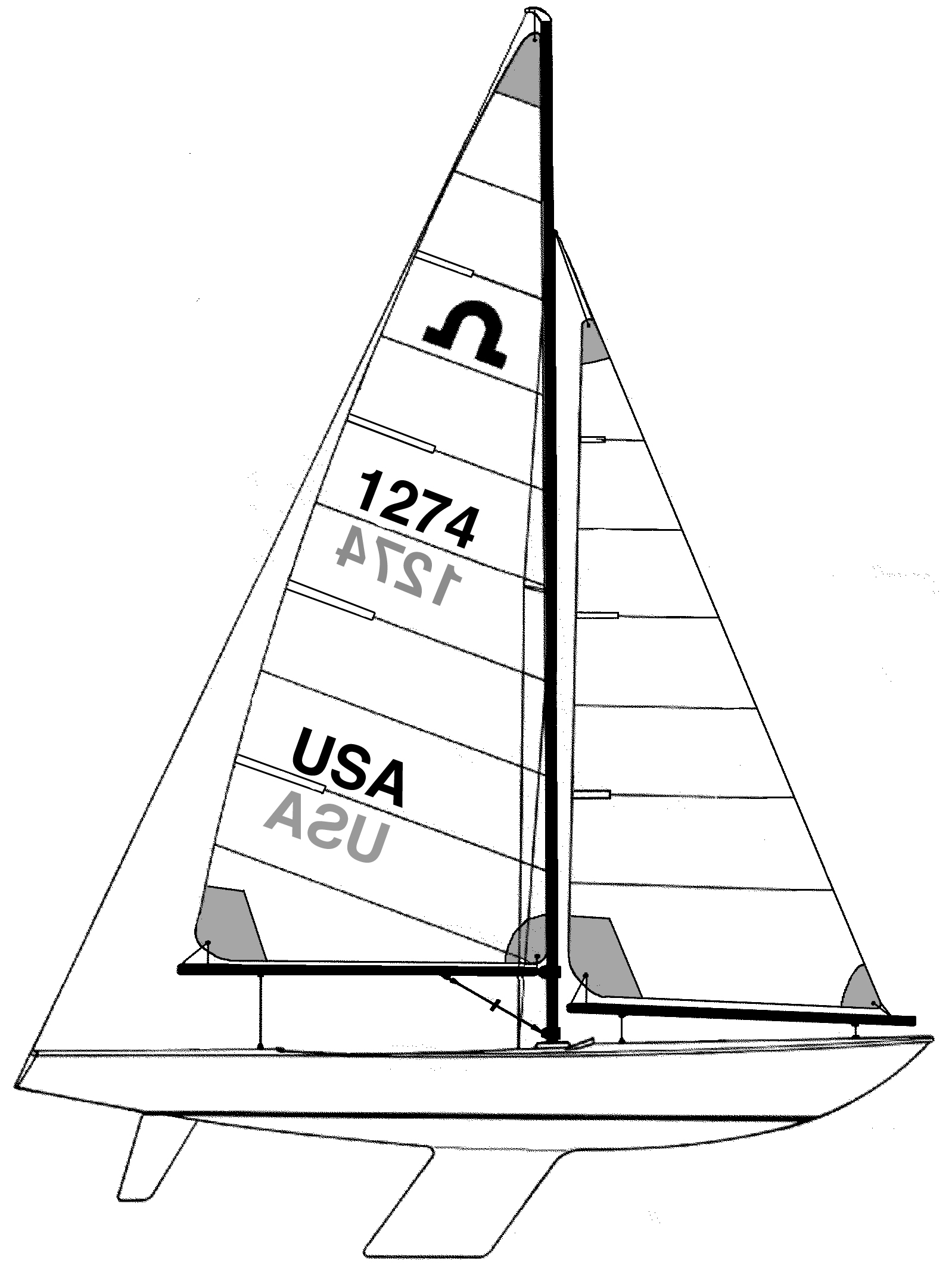 Sail Boat Line Drawing At Getdrawings