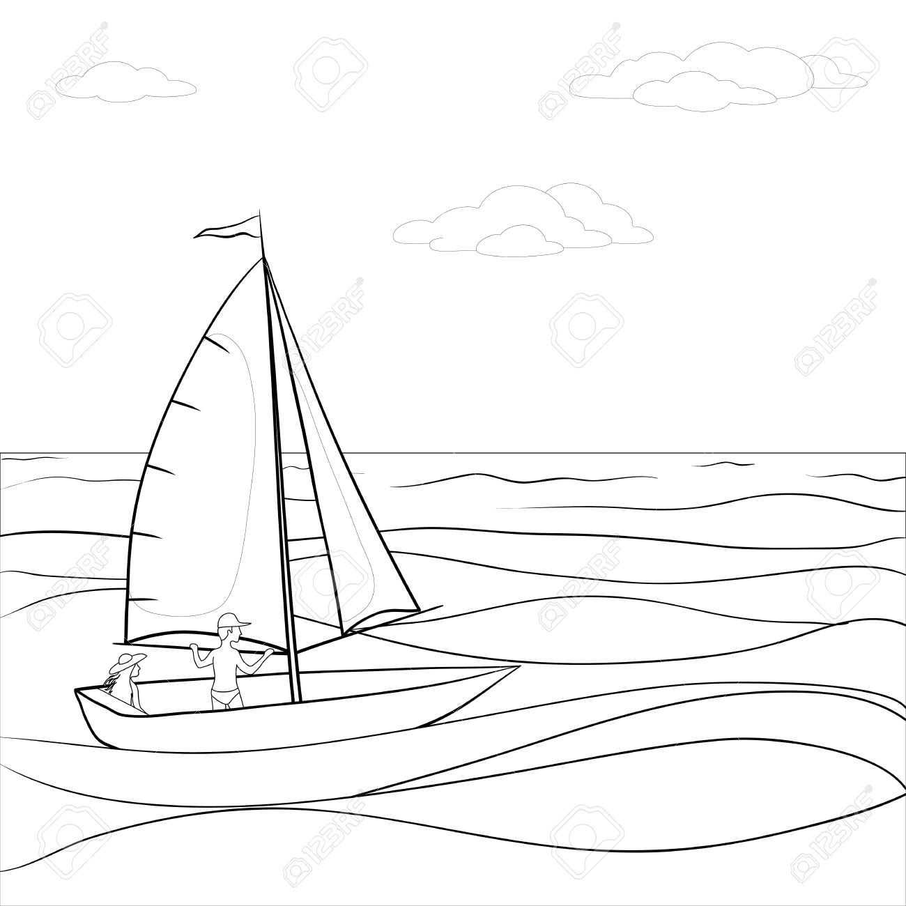 Sailing Boat Drawing At Getdrawings