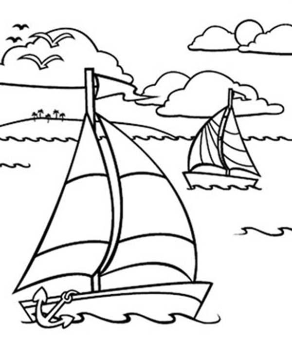 sailing boat line drawing at getdrawings  free download