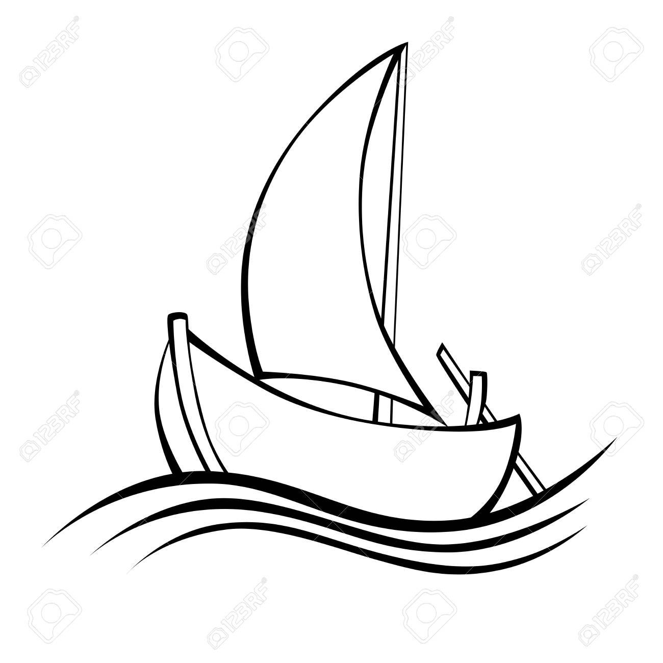 Sailing Boat Line Drawing At Getdrawings
