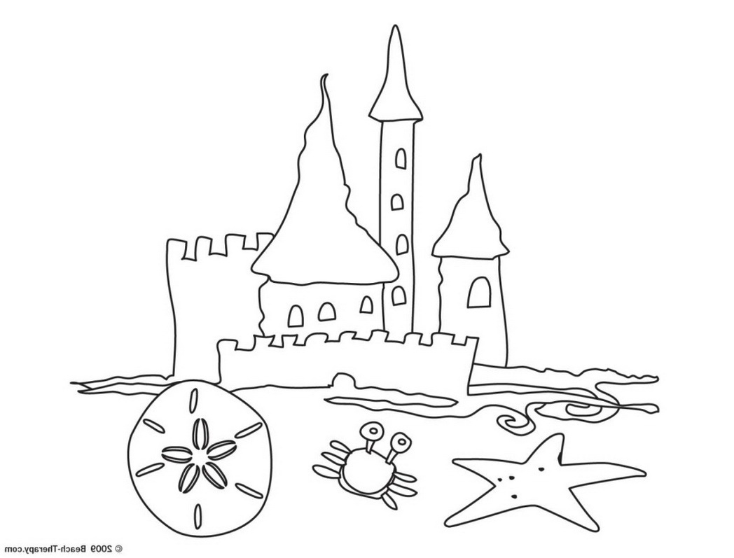 Sand Castle Drawing At Getdrawings