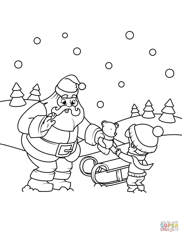 Santa Claus Sleigh Drawing At Getdrawings