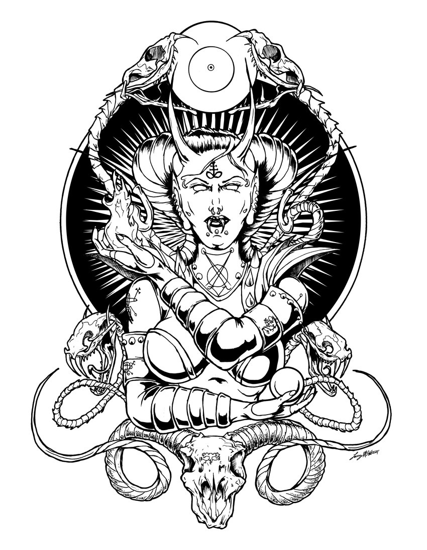 Satanic Pentagram Coloring Pages Free Coloring Pages Download ...