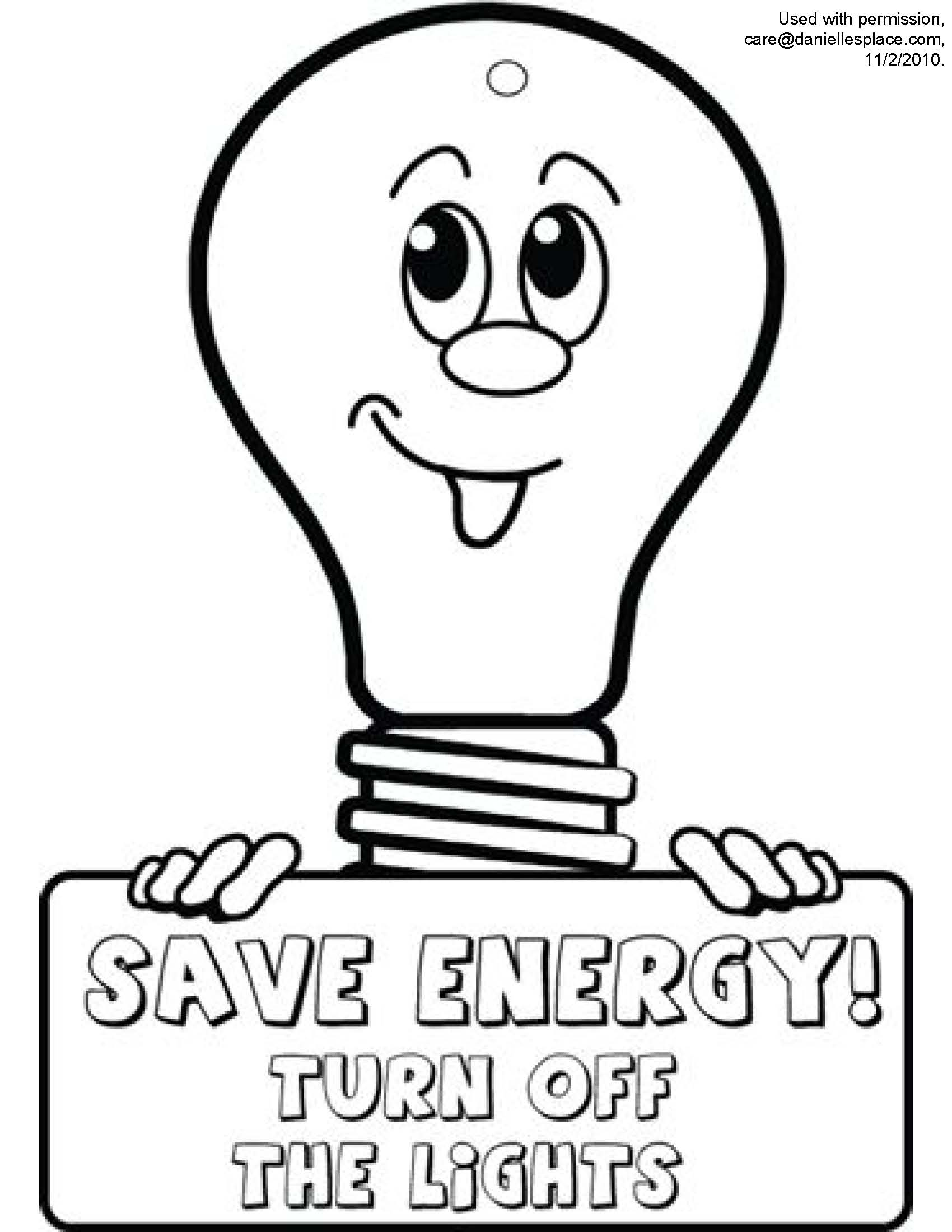 Save Electricity Drawing At Getdrawings