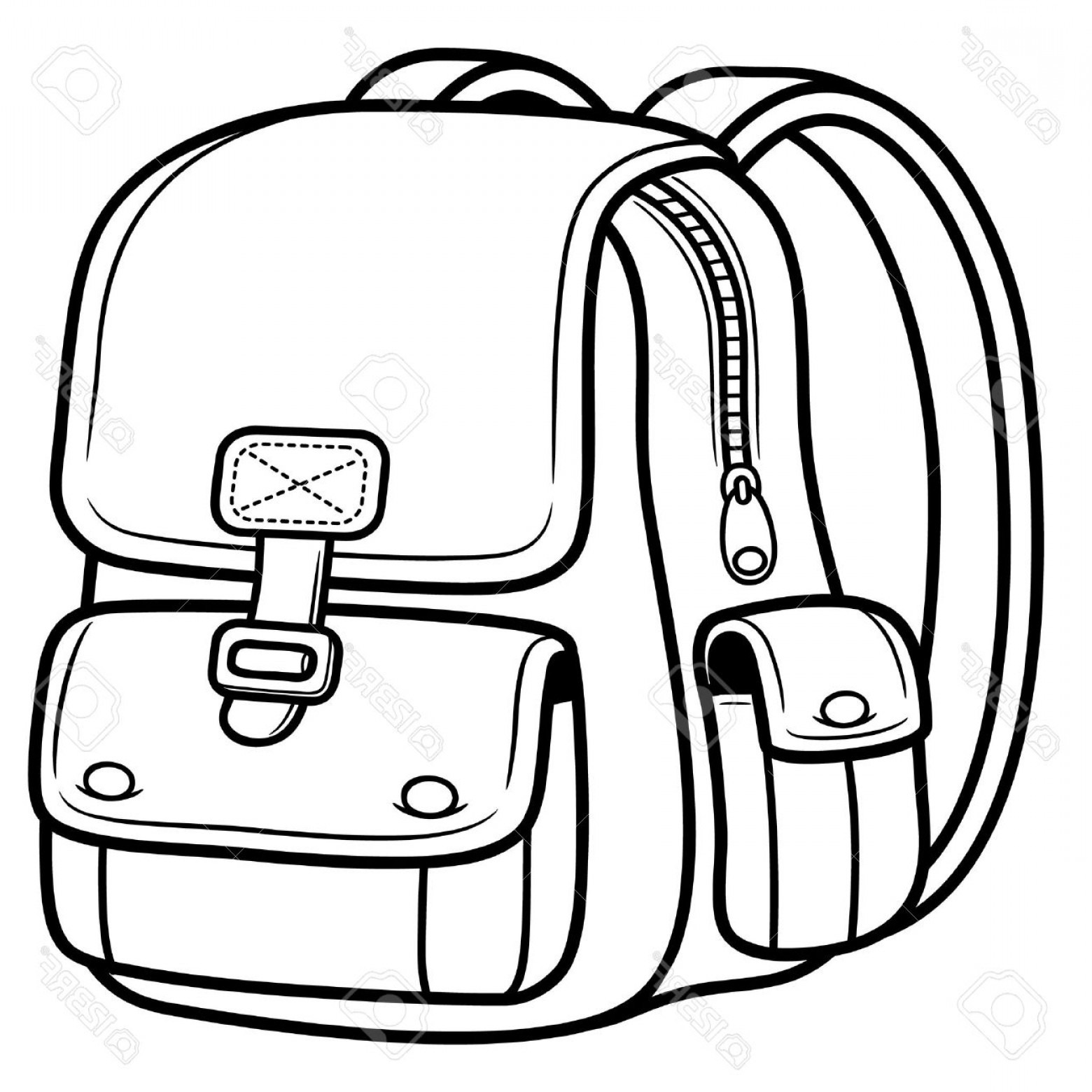 School Bags Drawing At Getdrawings
