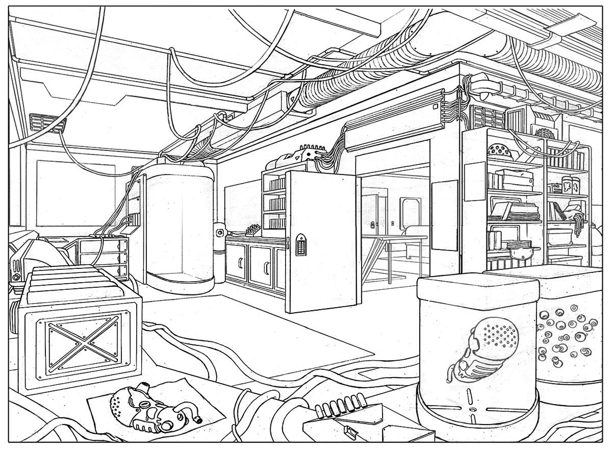 Sci Fi Drawing At Getdrawings