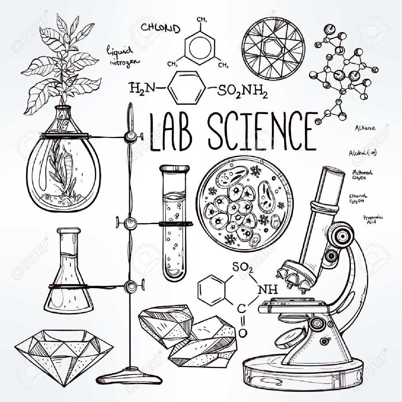 Science Drawing At Getdrawings