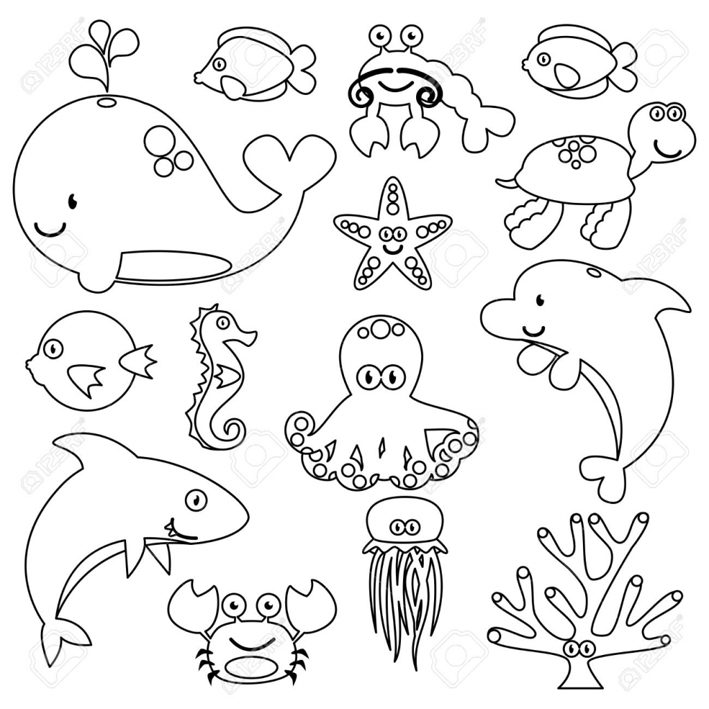 Sea Animal Drawing At Getdrawings