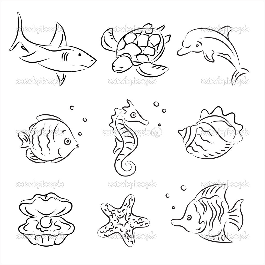 Sea Animals Drawing At Getdrawings