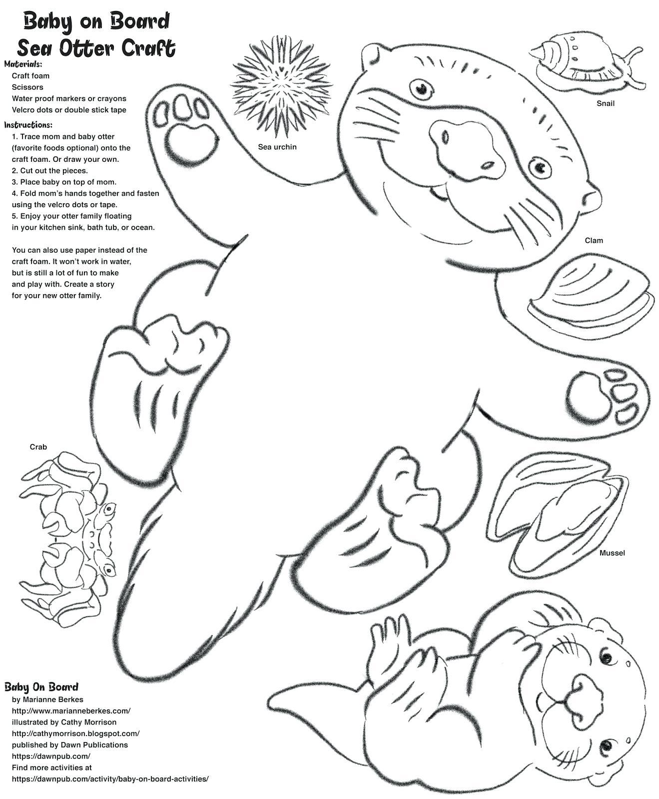 Sea Otters Drawing At Getdrawings