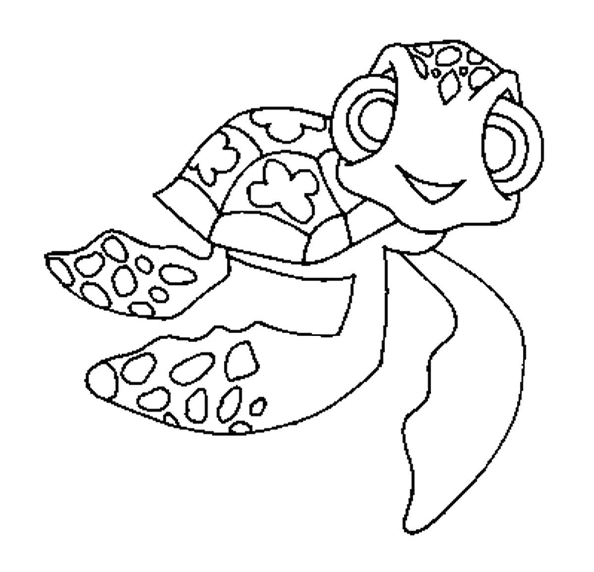 Sea Turtle Cartoon Drawing At Getdrawings