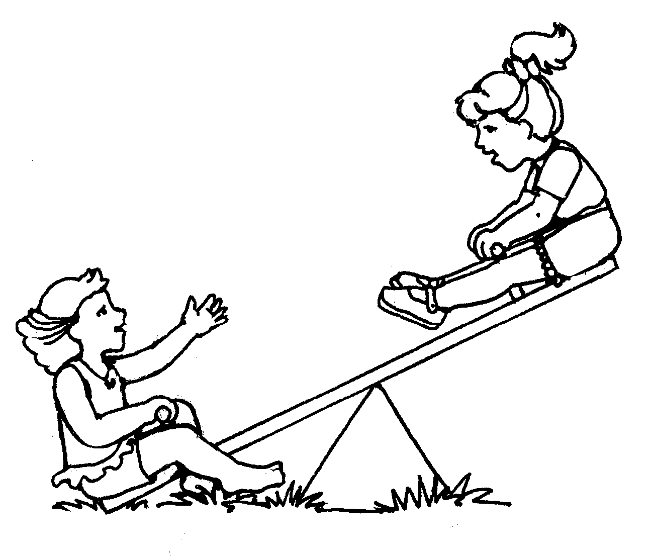 Seesaw Drawing At Getdrawings