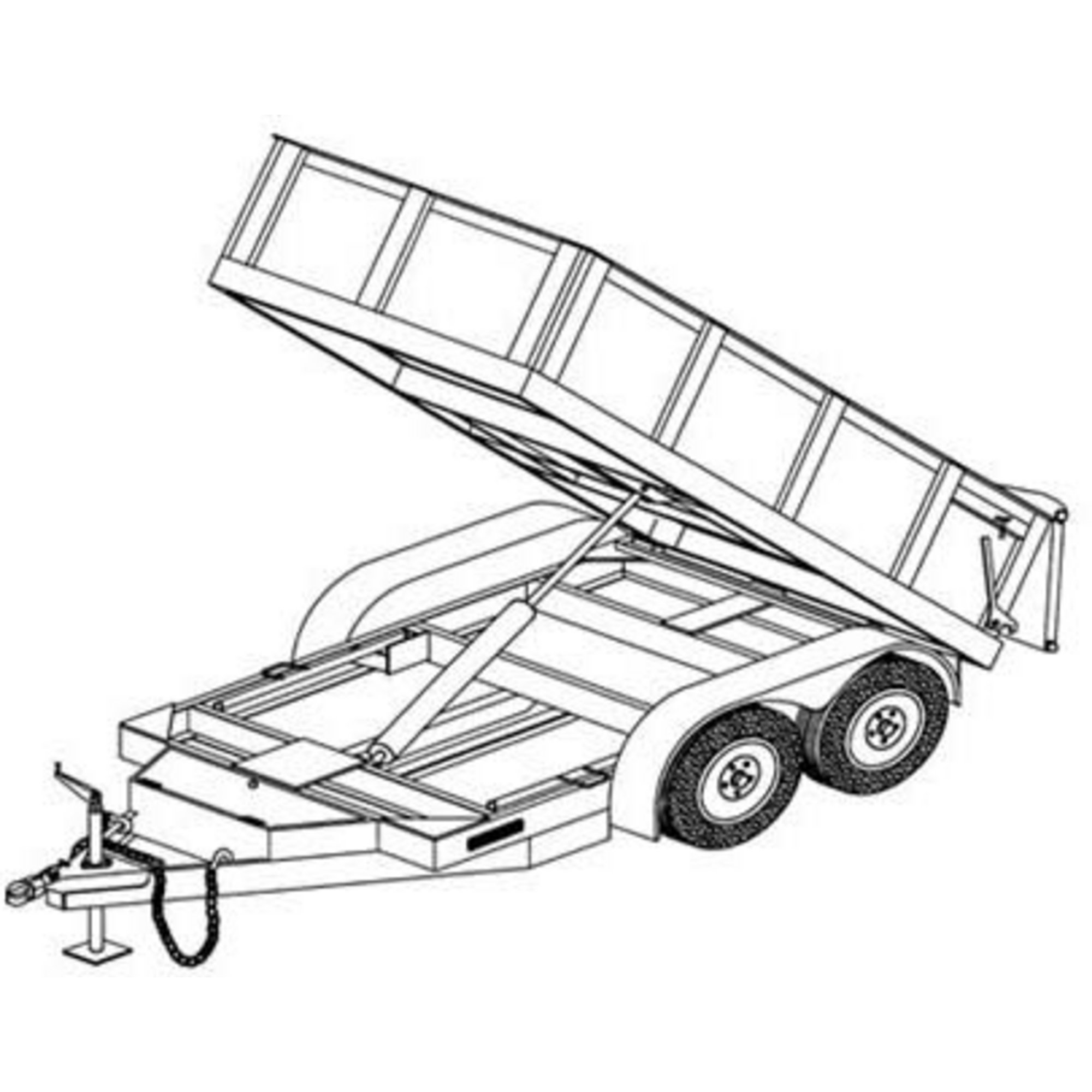 Semi Trailer Drawing At Getdrawings