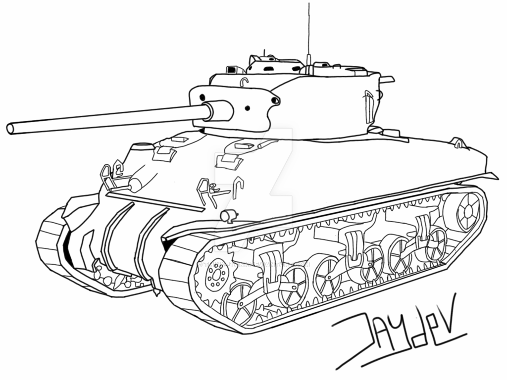 Sherman Tank Drawing At Getdrawings