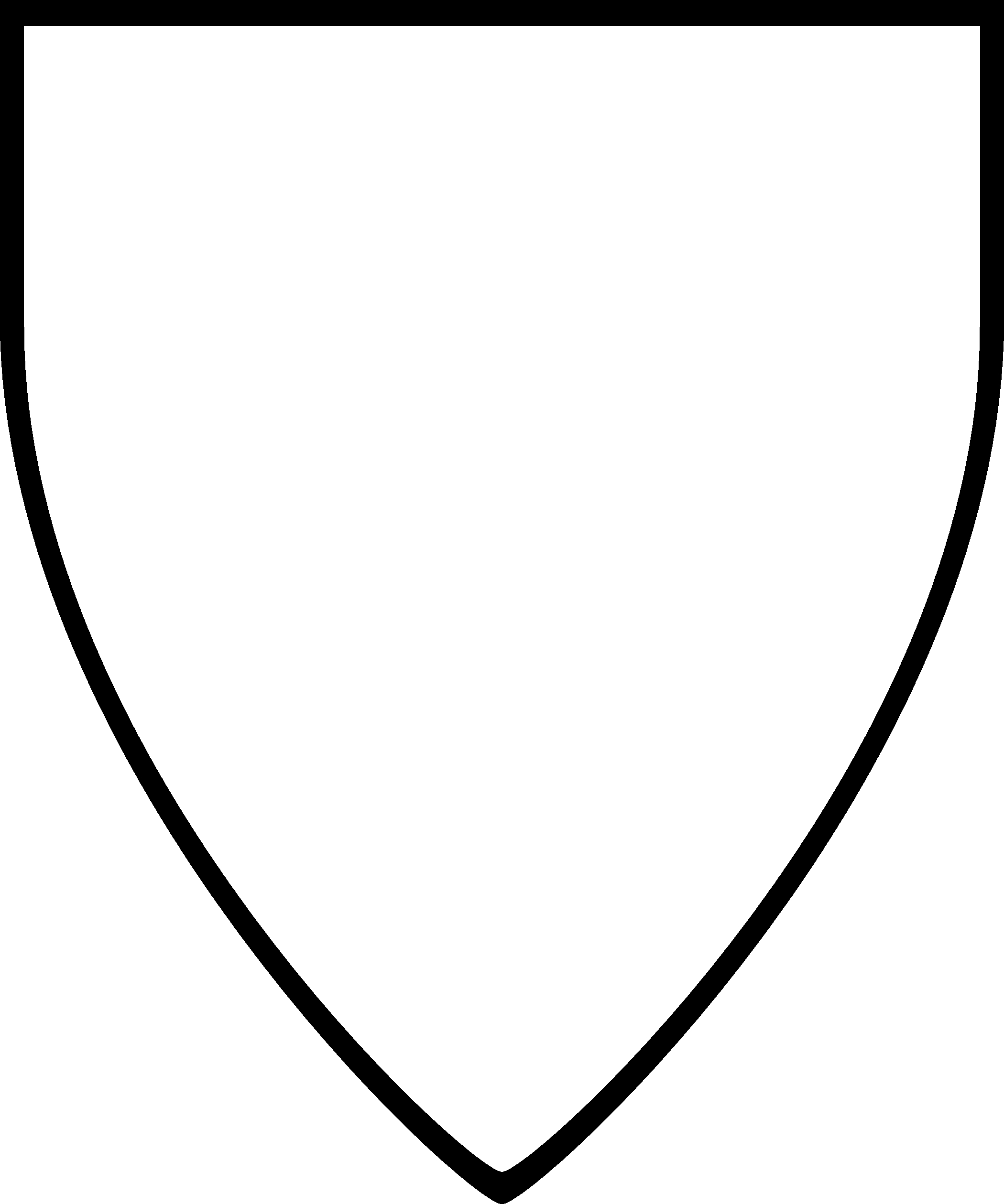 Blank Shield Vector