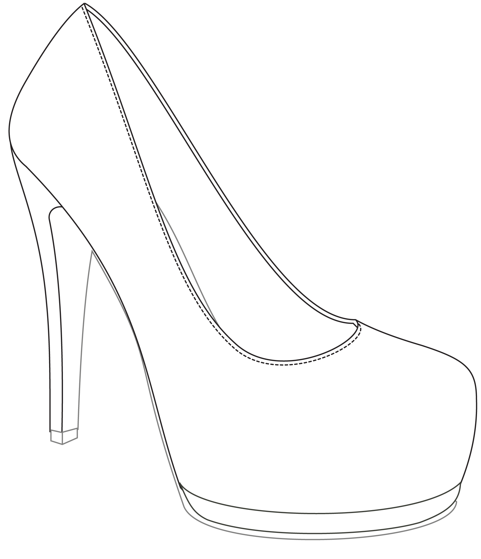 Shoes Design Drawing At Getdrawings