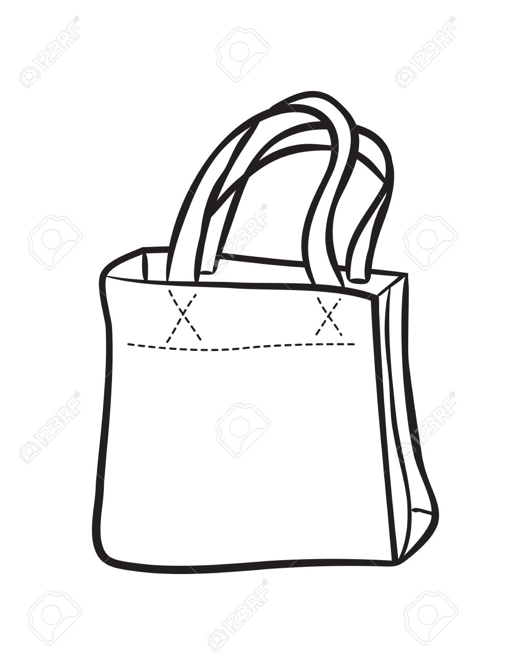 Shopping Bag Drawing At Getdrawings