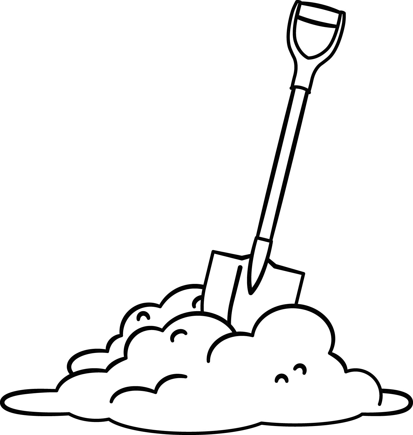 Free Shovel Clipart Pictures Clipartix Sketch Coloring Page