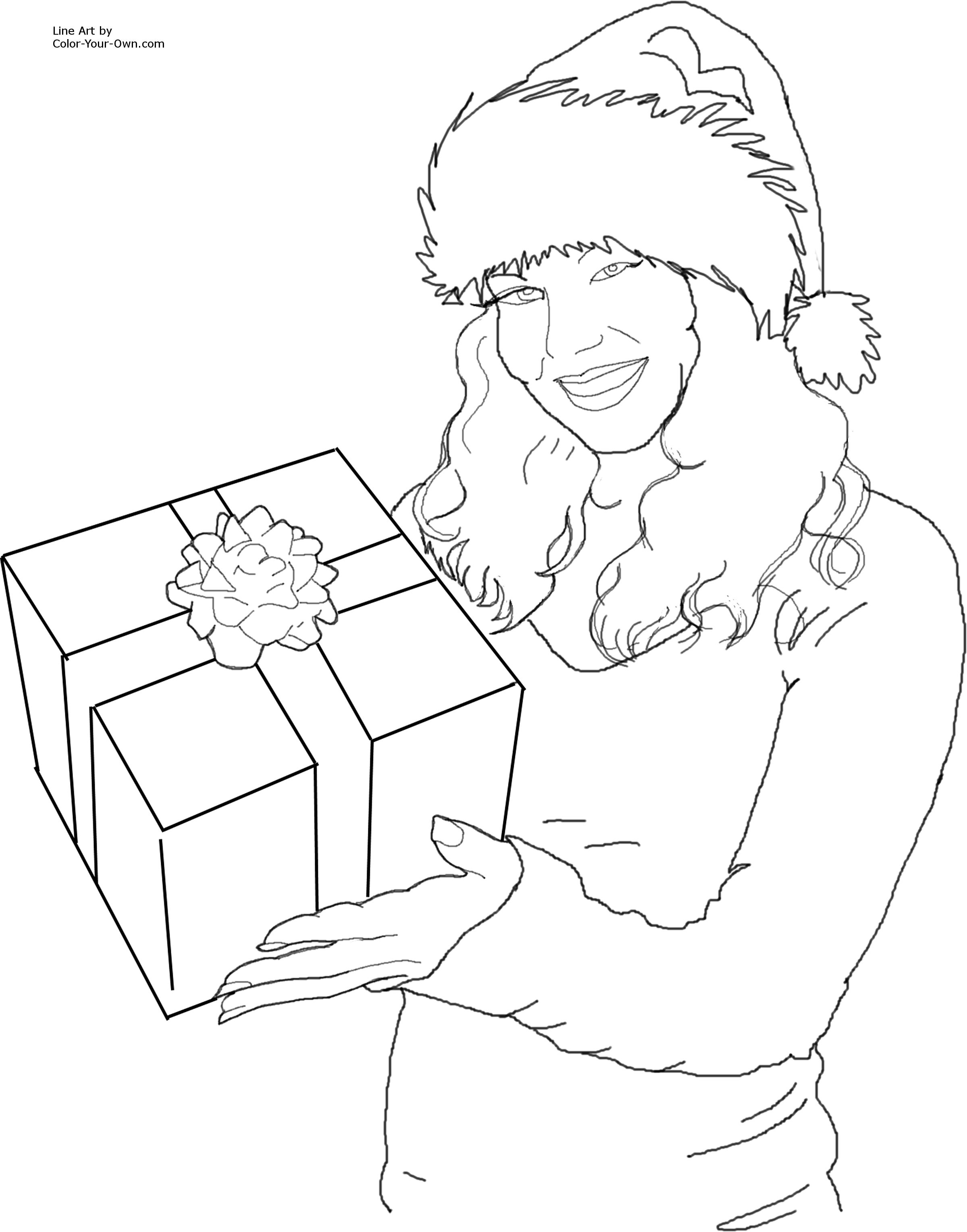 433x527 chevy silverado parts diagram systematic drawing accordingly famreit 2400x3056 christmas santa 39s helper with a gift coloring page