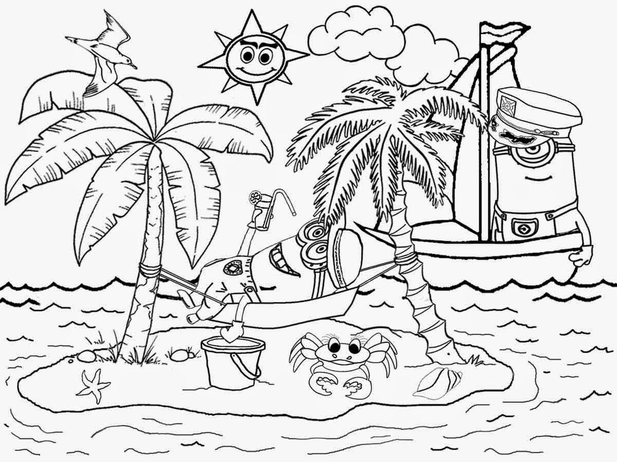 Simple Beach Drawing At Getdrawings