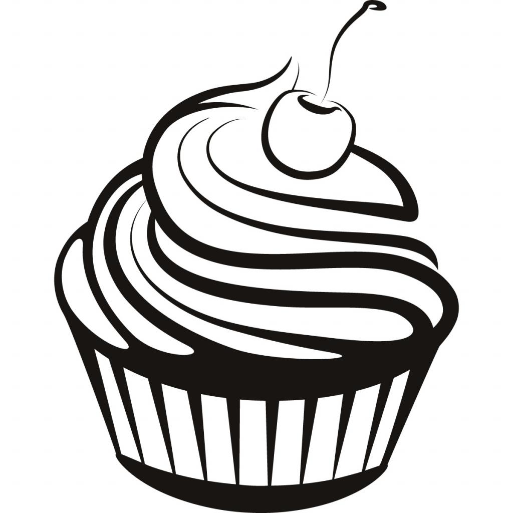 Simple Cupcake Drawing At Getdrawings