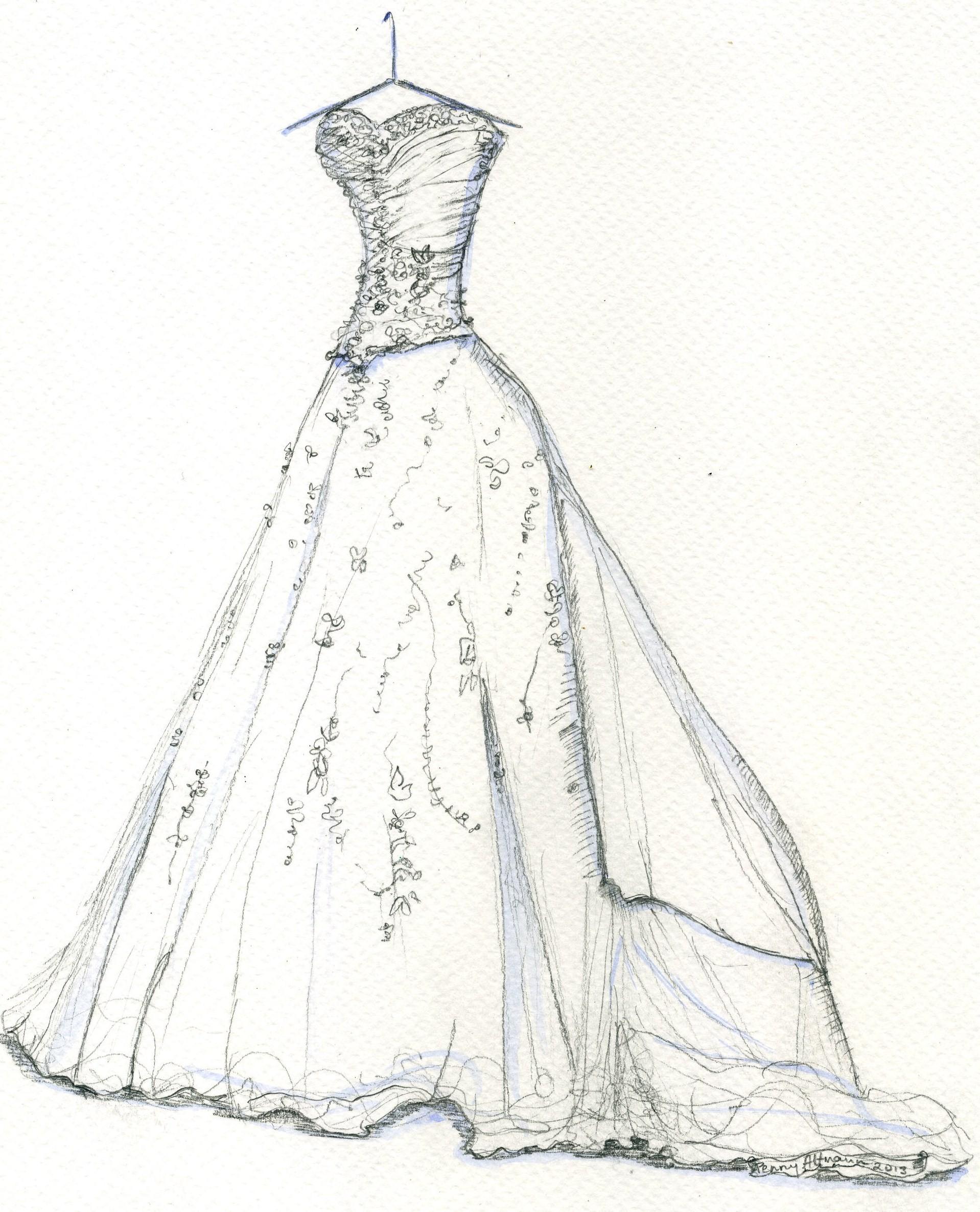 Simple Dress Drawing At Getdrawings