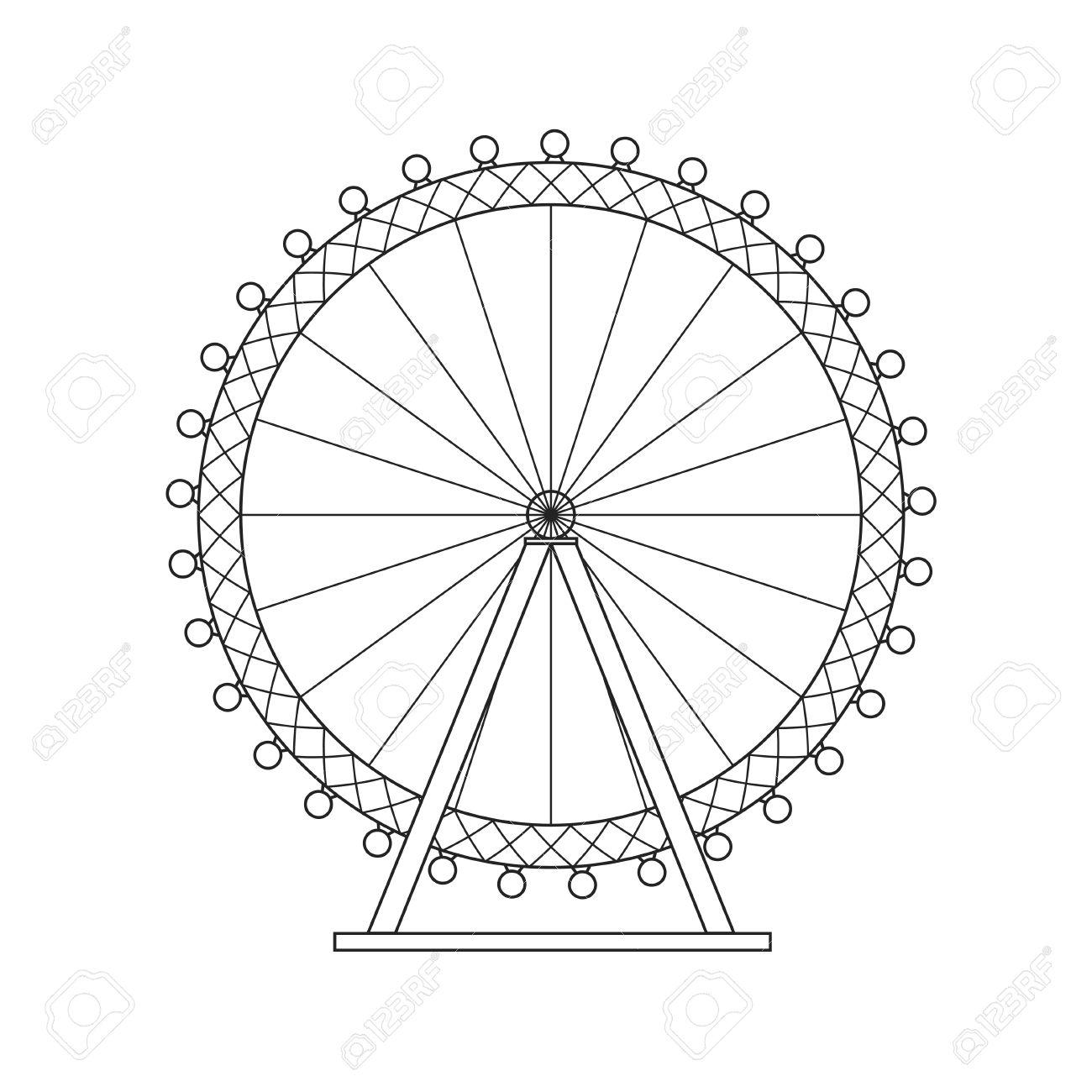Simple Ferris Wheel Drawing At Getdrawings