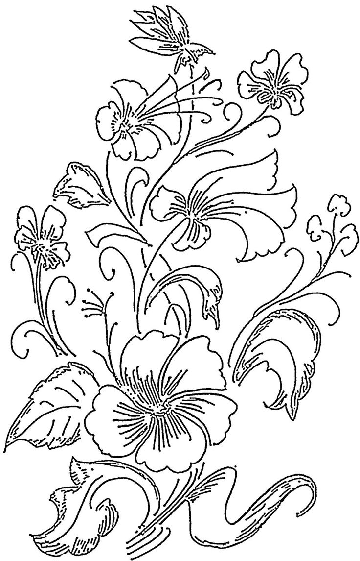 Flower Patterns Easy To Draw Wajiflower Co