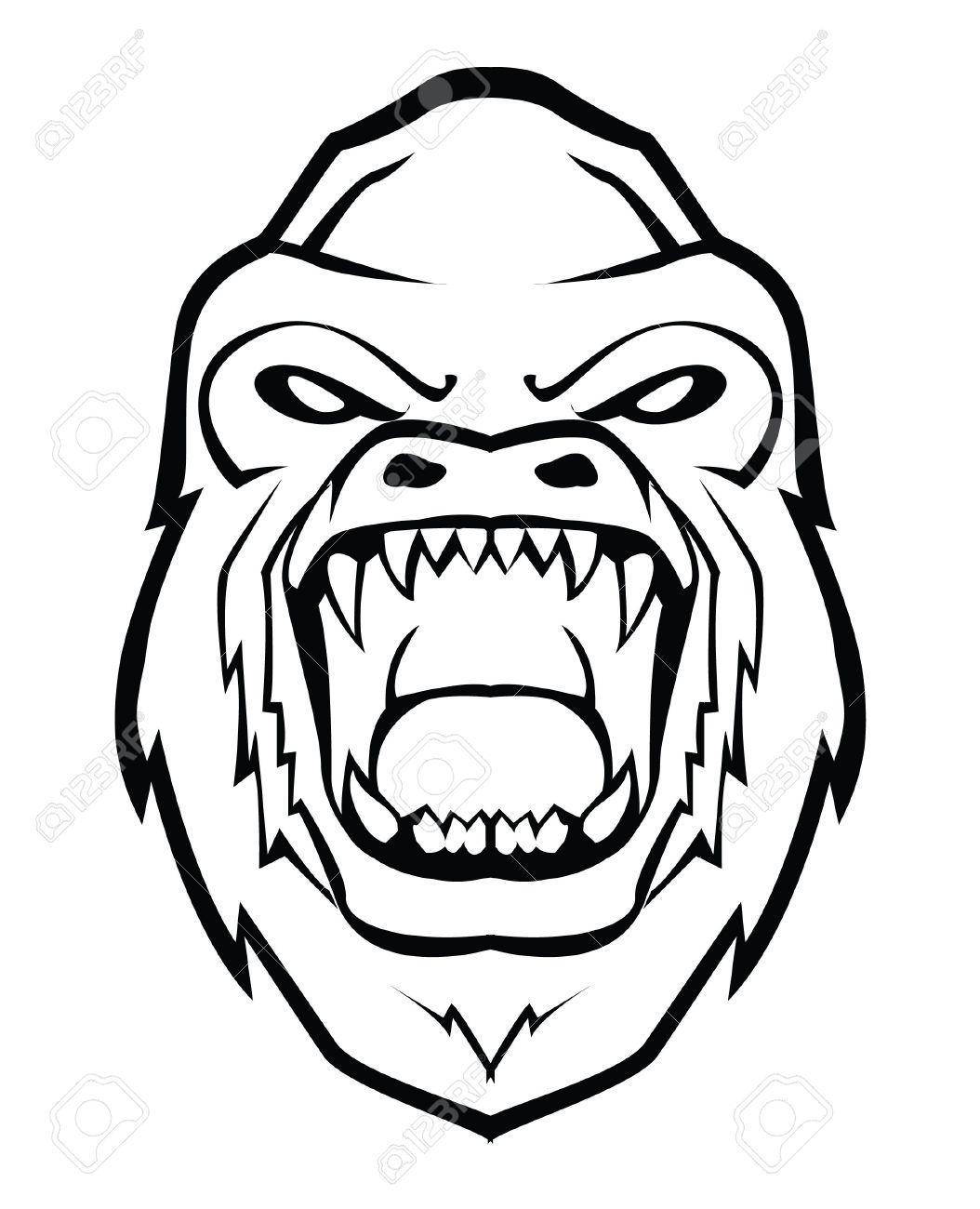 Simple Gorilla Drawing At Getdrawings