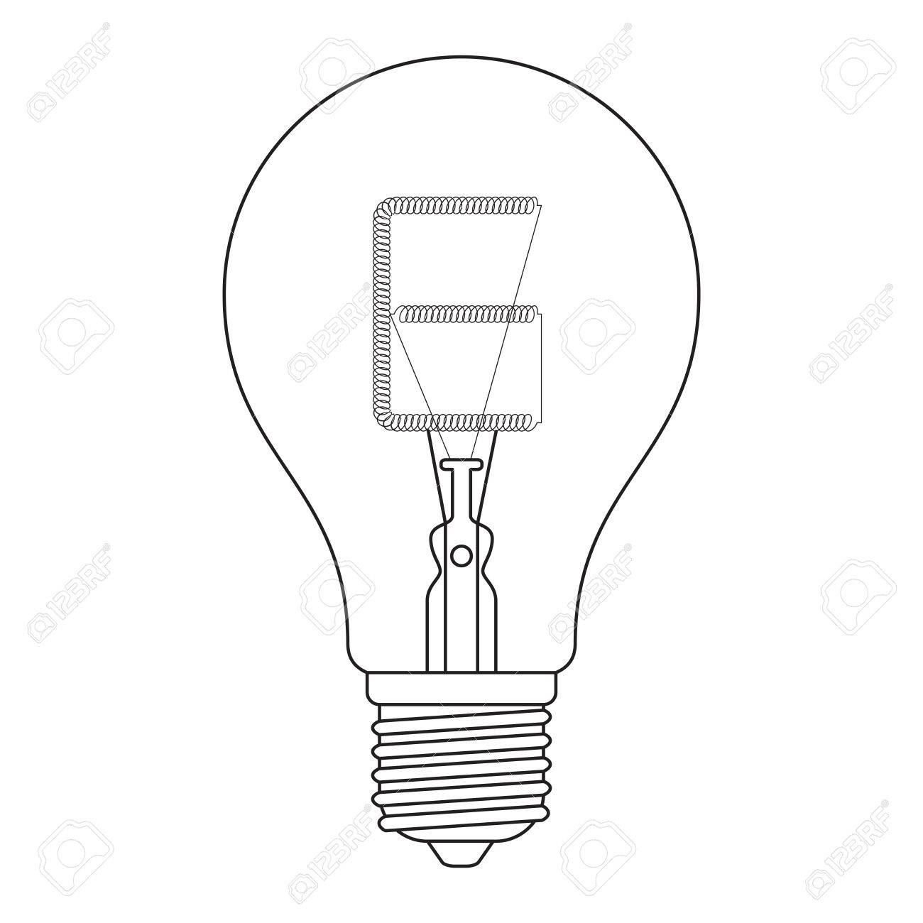 Simple Light Bulb Drawing At Getdrawings