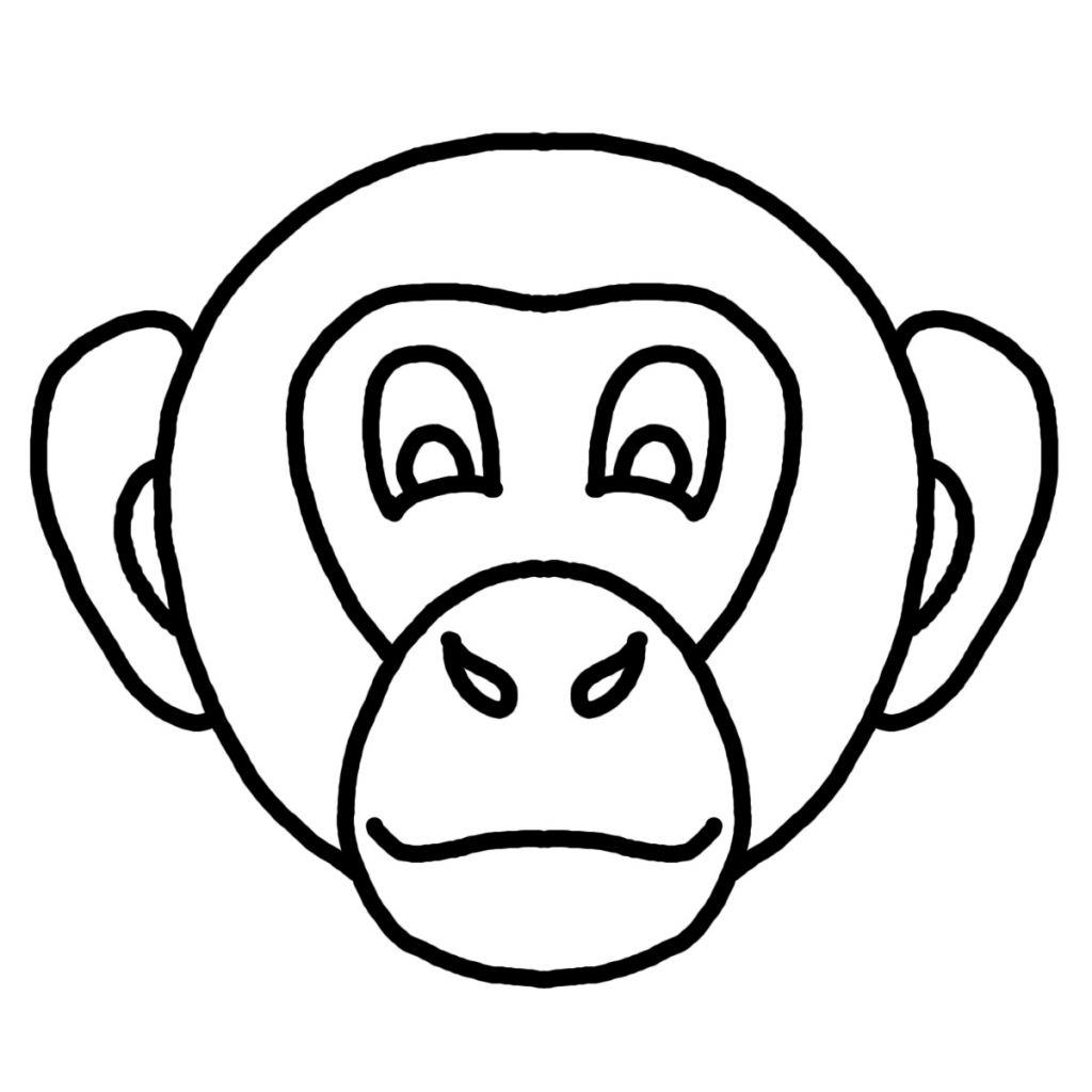 Simple Monkey Face Drawing At Getdrawings