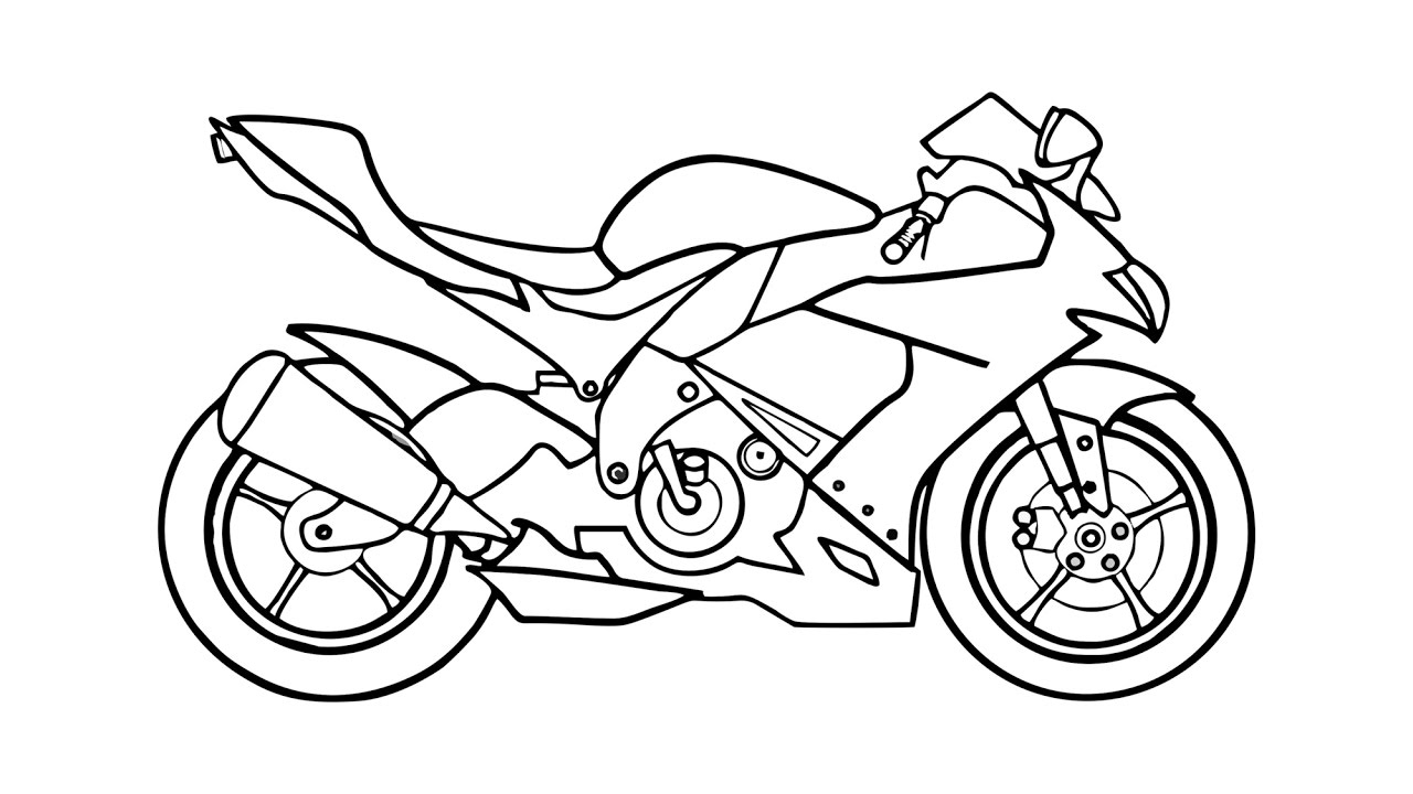 Simple motorcycle drawing at getdrawings free for personal use