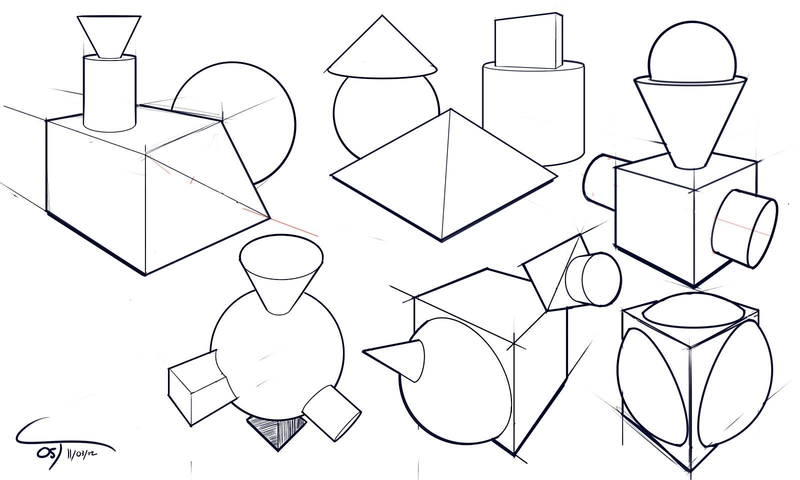 Simple Shapes Drawing At Getdrawings
