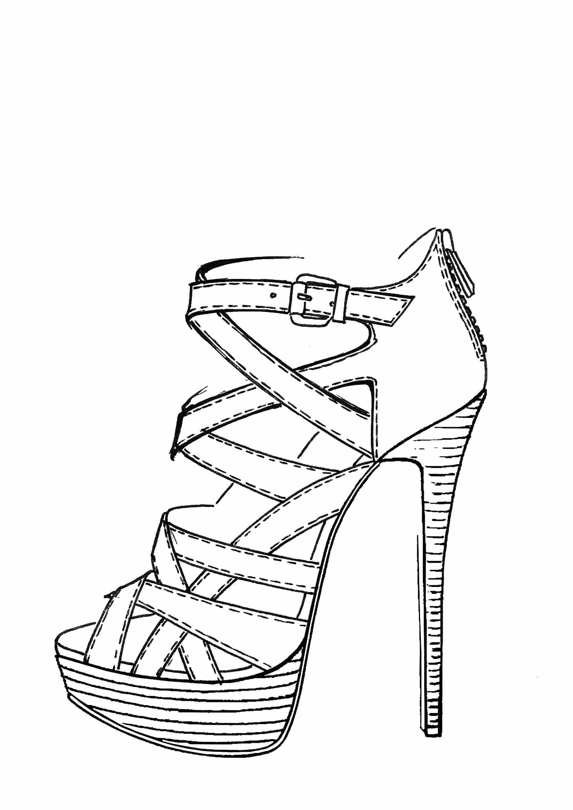 Simple Shoe Drawing At Getdrawings